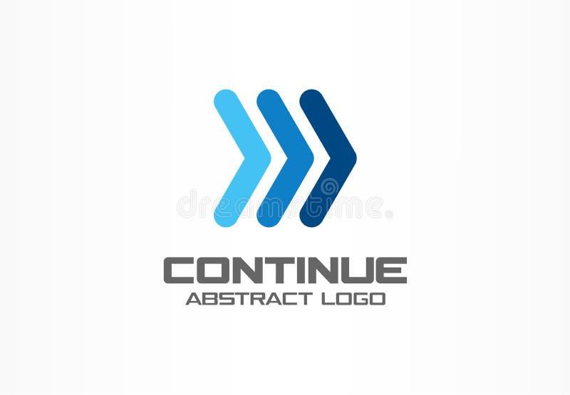 商业公司的抽象商标 公司本体设计元素 向量例证