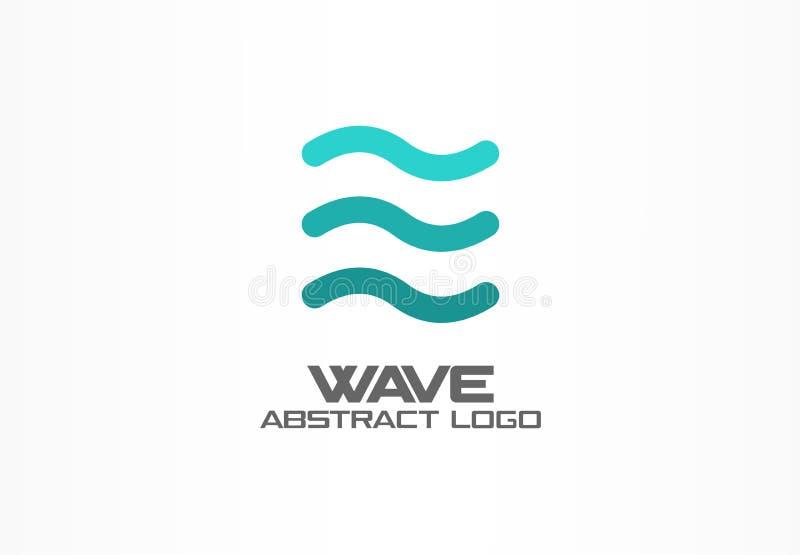 商业公司的抽象商标 Eco海洋,自然,旋涡,温泉,水色漩涡略写法想法 水波,螺旋 库存例证