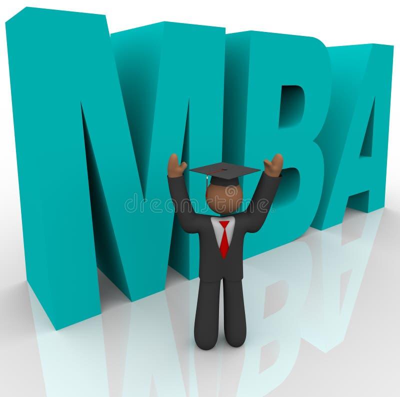 商业函件人工商管理硕士 向量例证