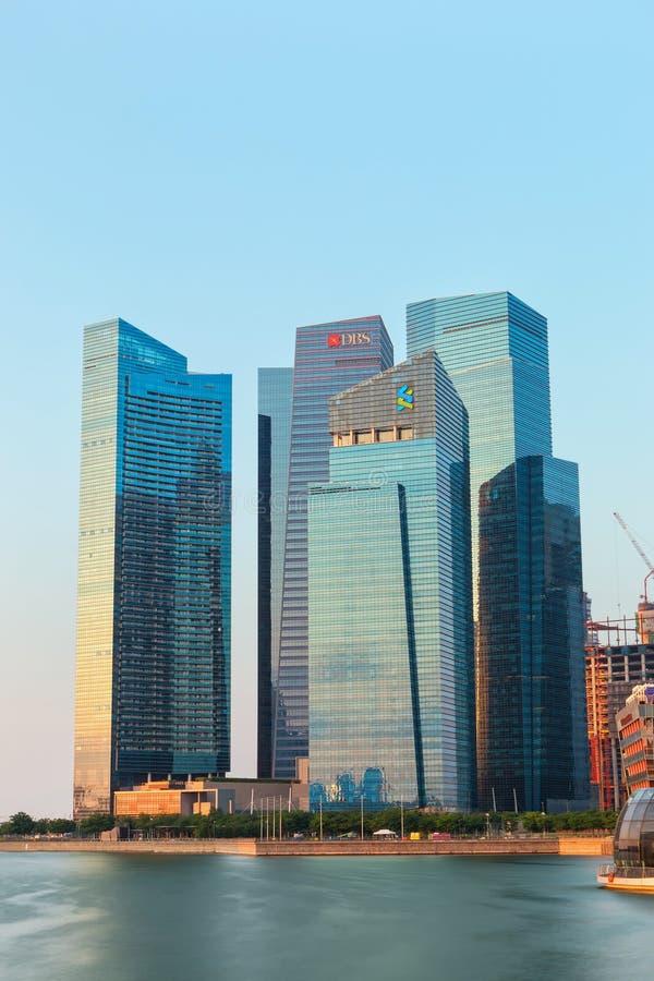 商业区新加坡地平线 库存照片