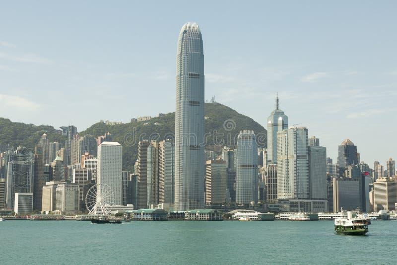 商业区香港 库存照片