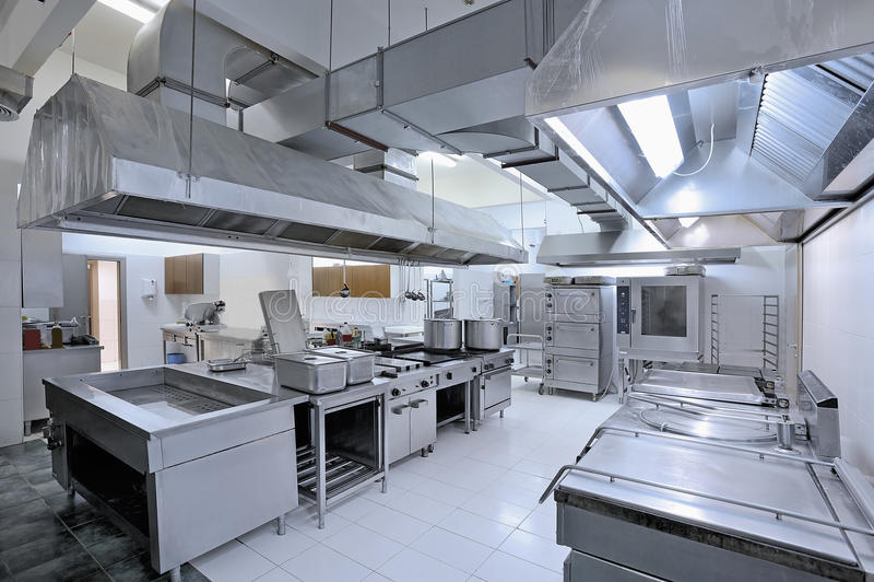 商业厨房 库存照片
