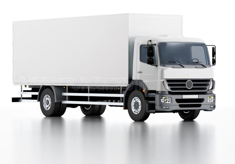 商业发运/货物卡车 库存例证