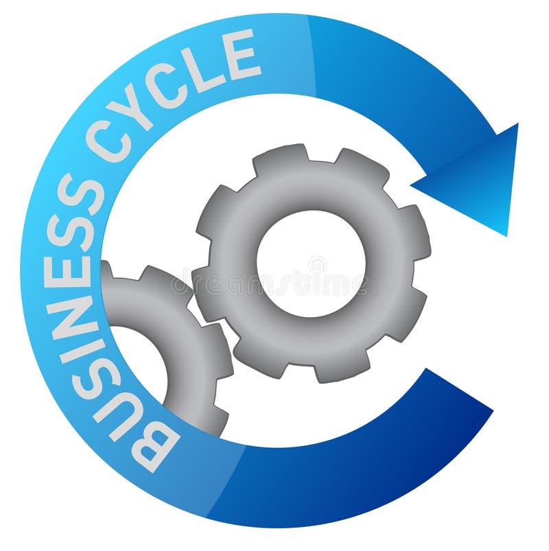 商业周期设计齿轮例证 向量例证