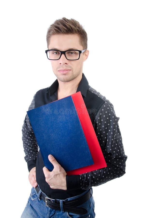 商业和财务 愉快的学员年轻人 有吸引力的生意人年轻人 英俊的人年轻人 免版税库存照片