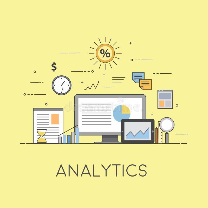 商业和财务 数字技术 安纳托利亚 图和报告 库存例证