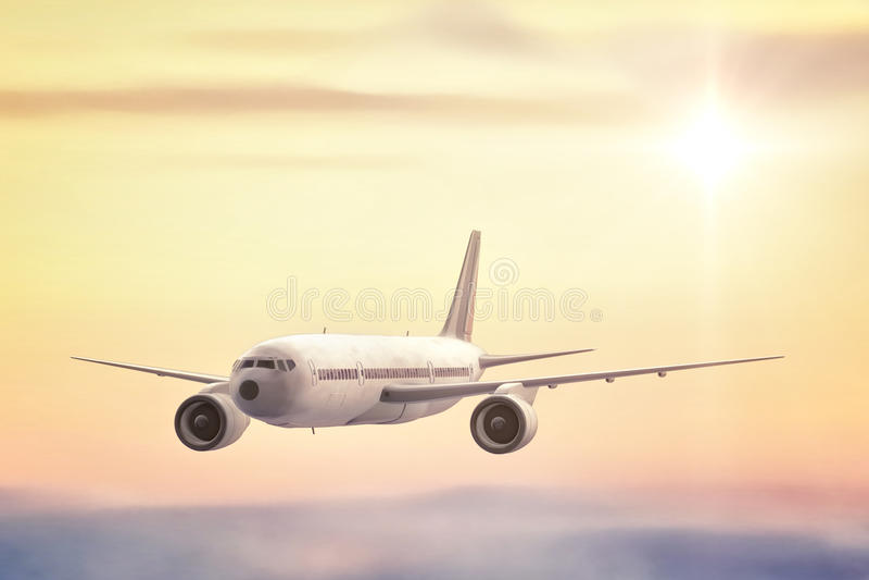 商业喷气机 免版税库存照片