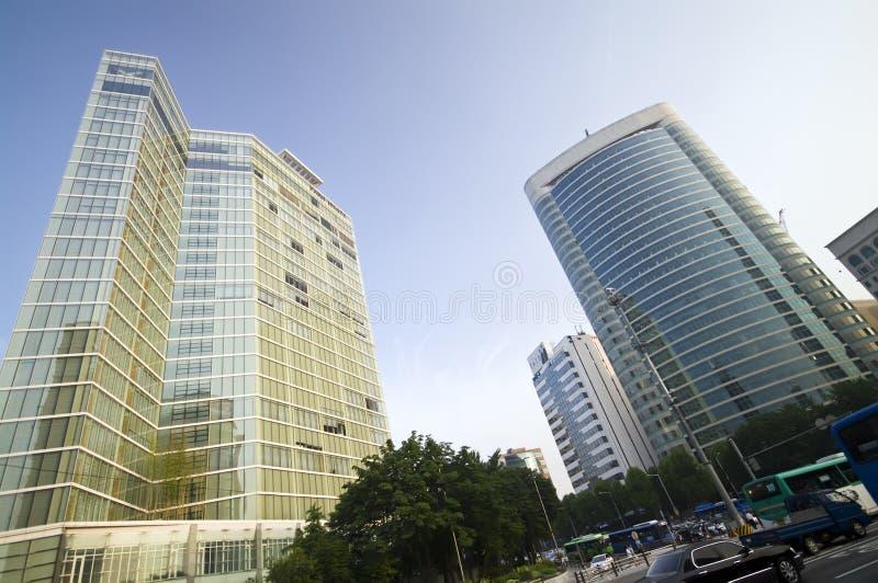 商业地区汉城 免版税库存照片