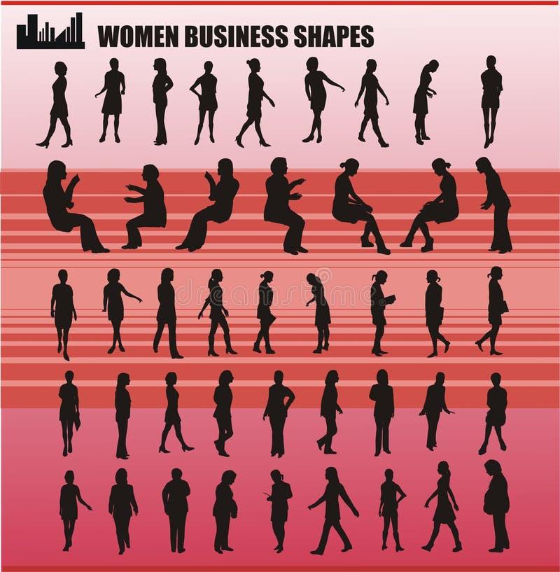 商业塑造向量妇女 皇族释放例证