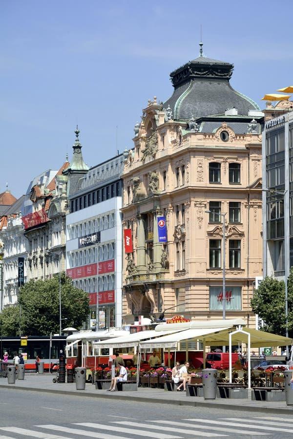 商业大厦在布拉格-捷克 库存照片