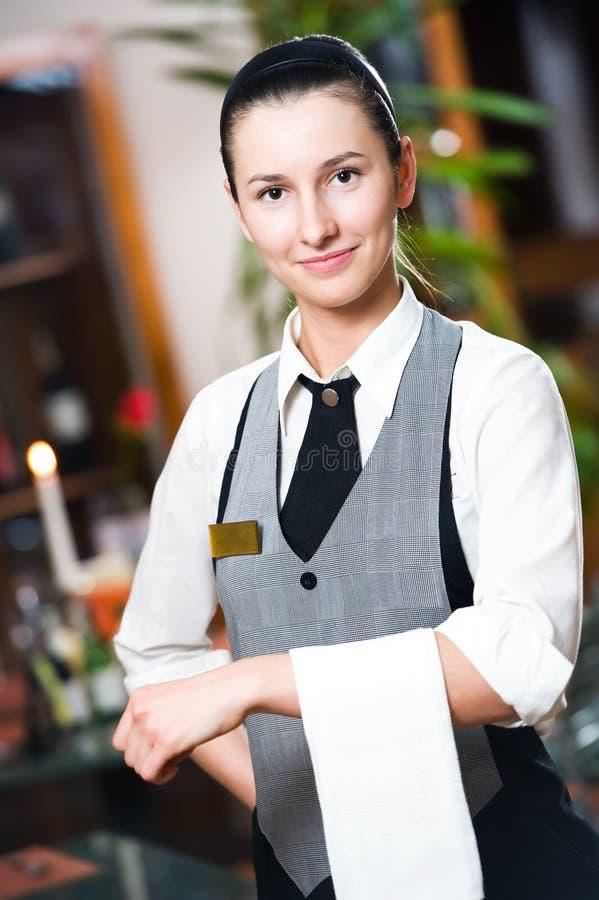商业女孩女服务员 免版税库存照片
