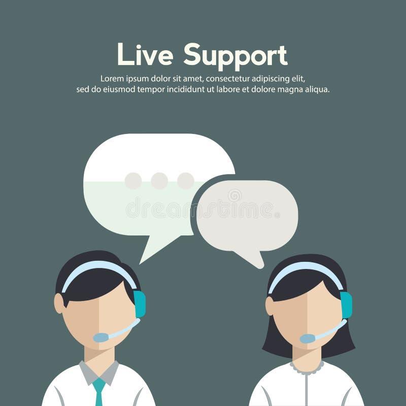 商业客户关心服务概念平的象被设置联络我们支持询问台电话和网站为infographic点击 库存例证