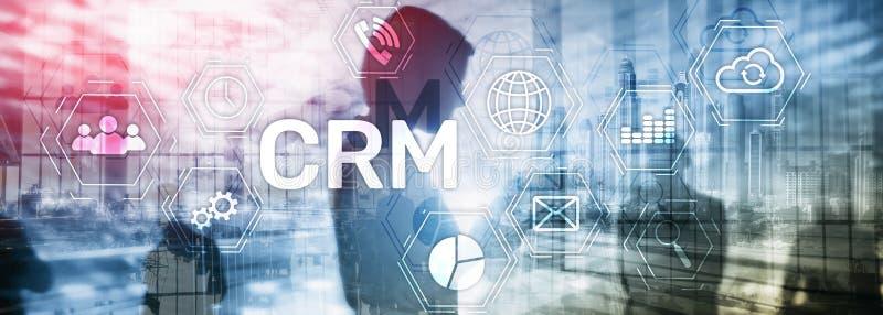 商业客户客户关系管理管理分析服务概念 关系管理 皇族释放例证