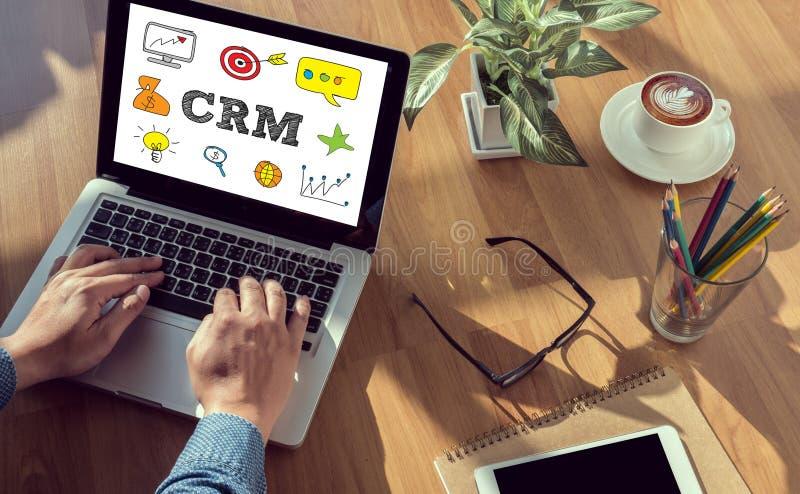 商业客户客户关系管理管理分析服务概念 免版税库存图片