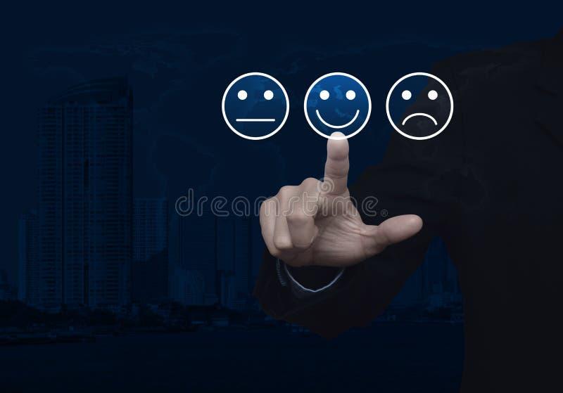 商业客户服务评估和反馈规定值概念 免版税库存照片