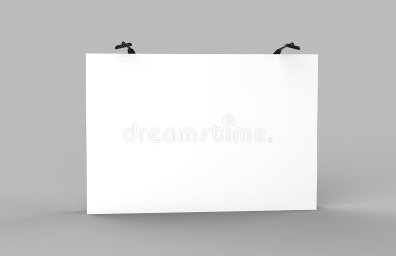商业展览广告立场的平直的陈列紧张织品显示横幅立场背景与LED或卤素光 3d关于 皇族释放例证
