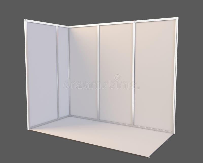 商业展览摊 3D在白色背景隔绝的翻译 向量例证
