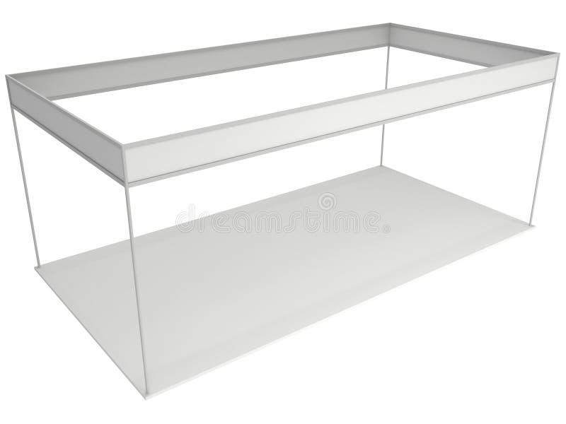 商业展览空白摊的箱子白色和 空白的室内陈列 向量例证