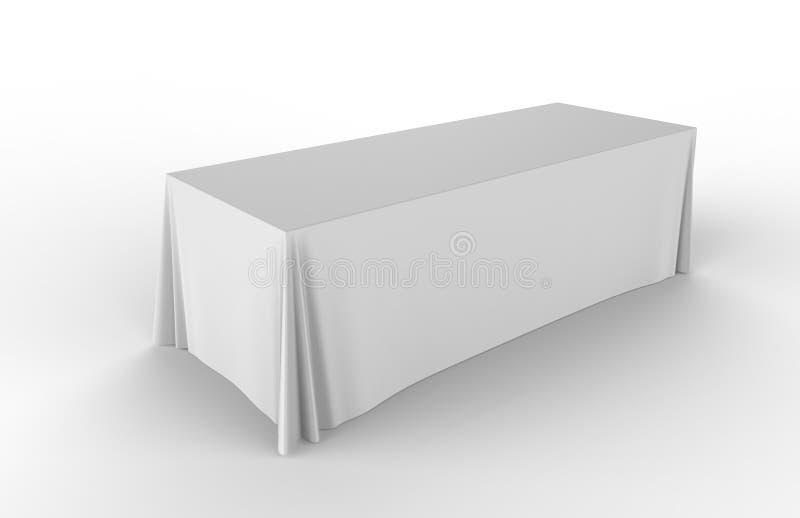 商业展览陈列广告赛跑者桌可调整的布料横幅或桌帷 3d例证回报 向量例证