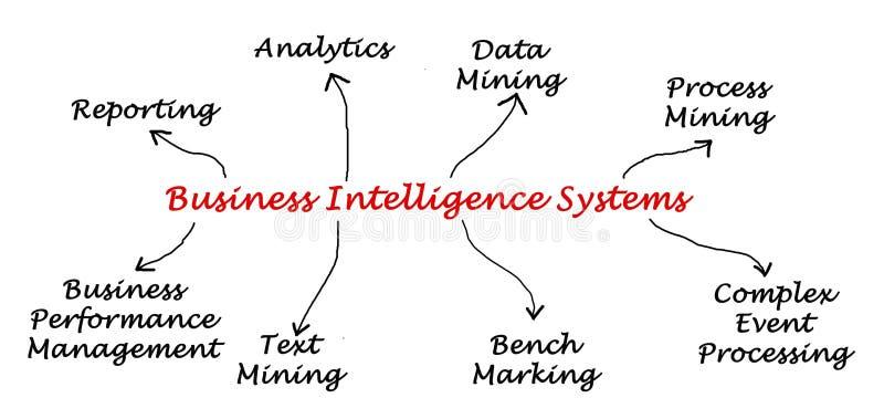 商业情报系统 库存例证
