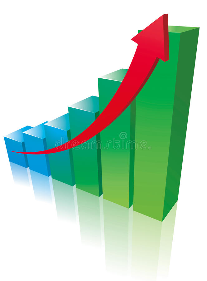 商业成长 免版税库存照片