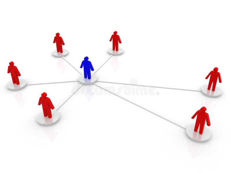 商业或社会网络。 概念。 3d回报例证 免版税库存照片