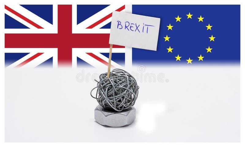 商业战争的Brexit,经济冲突在英国和欧盟之间 皇族释放例证