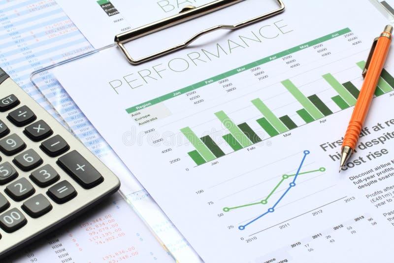 商业投资分析 库存照片