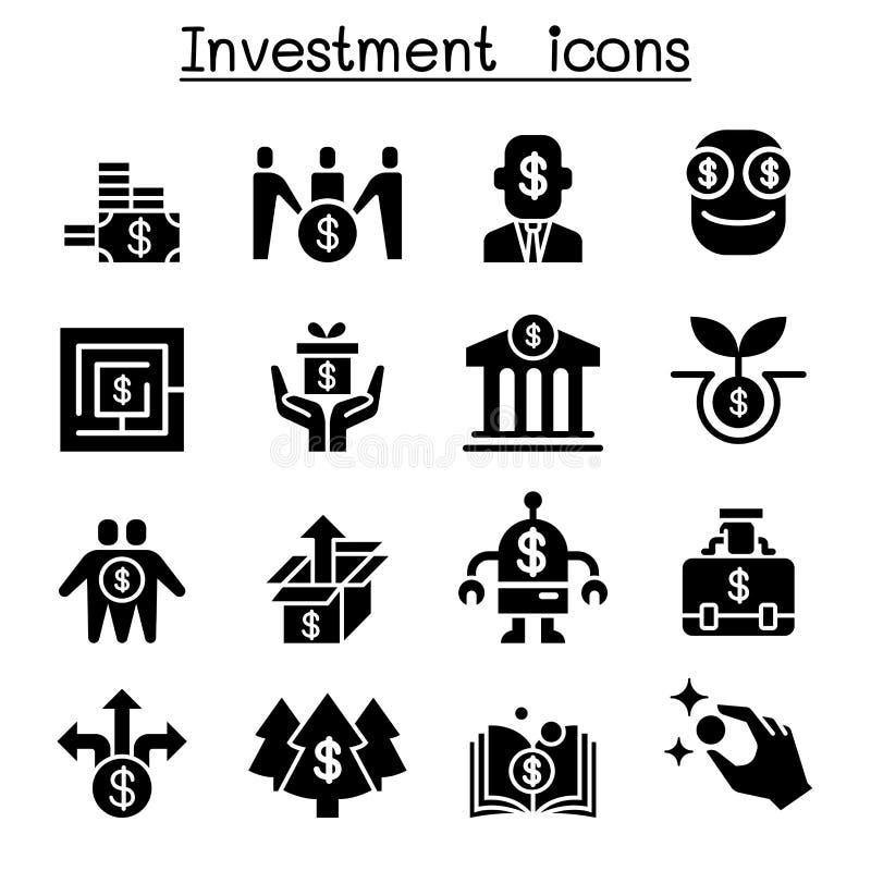 商业投资象集合 向量例证