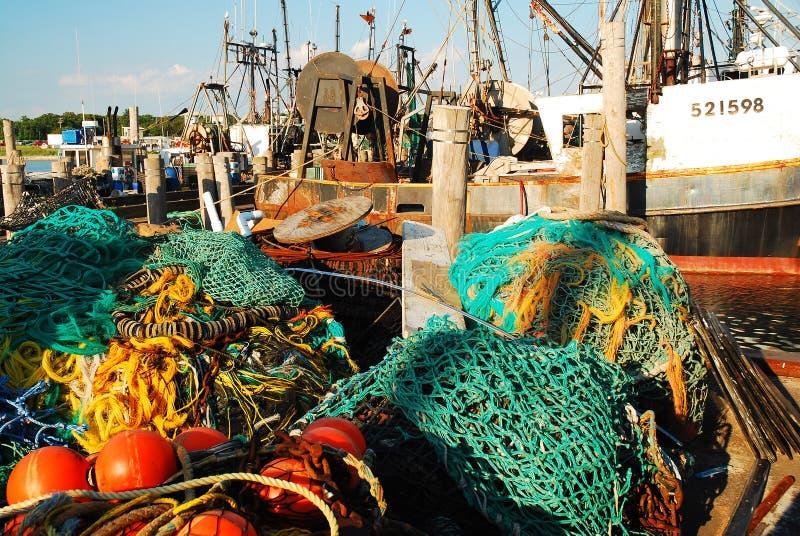 商业捕鱼业舰队 免版税库存图片