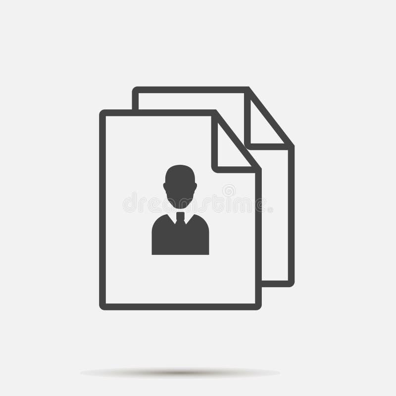 商业文件的传染媒介图象 标志管理 为容易的编辑例证编组的层数 设计您 皇族释放例证