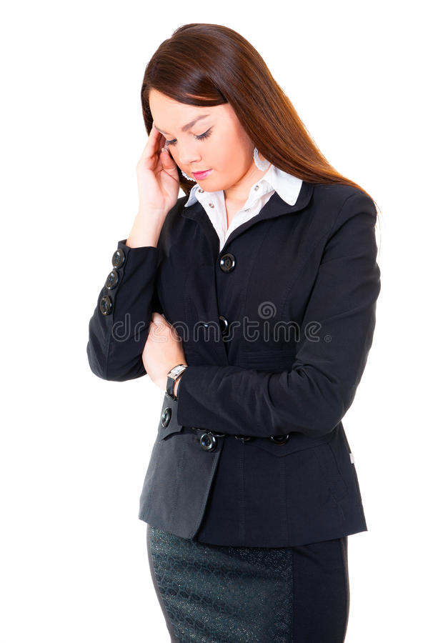 Download 商业有头疼妇女 库存照片. 图片 包括有 beautifuler, 白种人, 女孩, 办公室, 背包, 总公司 - 22351816