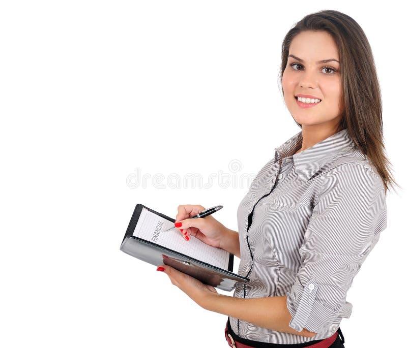 商业查出妇女 库存图片