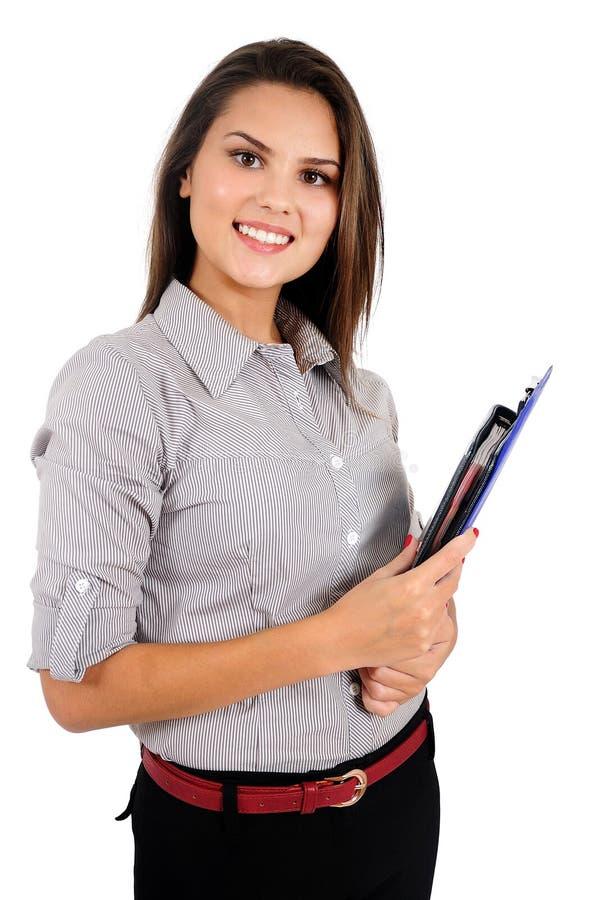 商业查出妇女 免版税库存照片