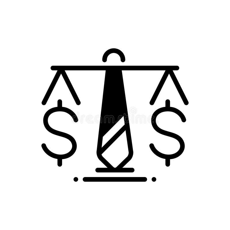 商业法、制定和设定的黑坚实象 库存例证