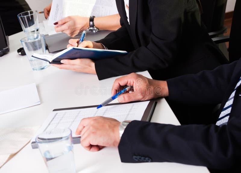 商业注意采取小组的人 免版税库存图片