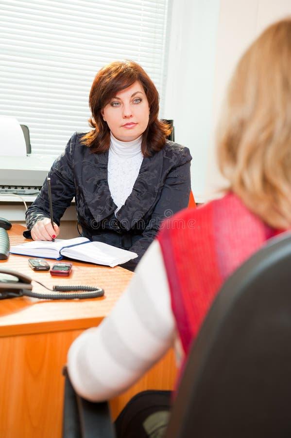 商业满足妇女 免版税库存图片