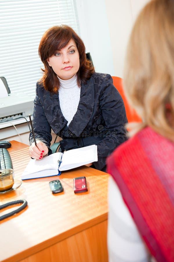 商业满足妇女 库存图片