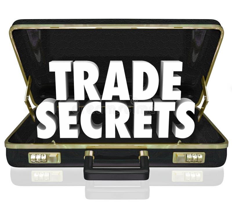 商业秘密公文包企业私有的信息Intelle 库存例证