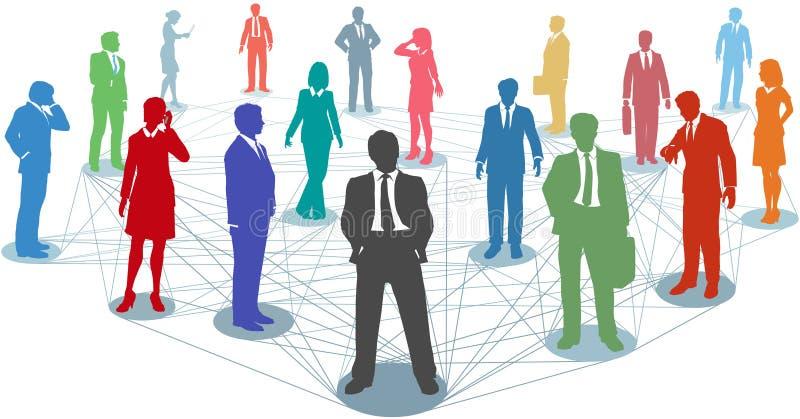 商业联络连接数网络人 向量例证