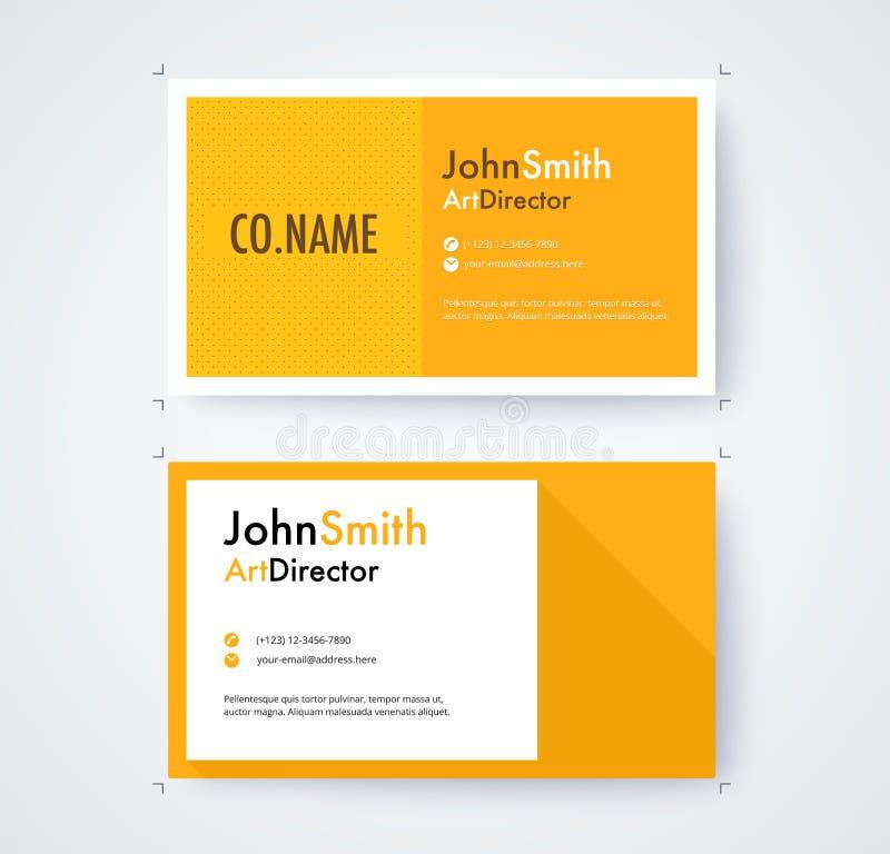 商业设计的名片模板在白色背景 库存例证