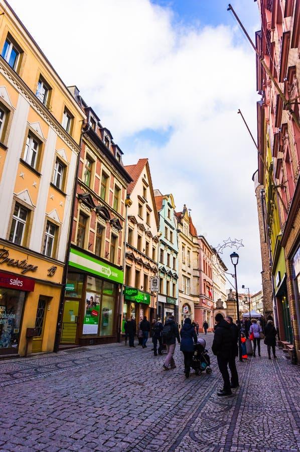 商业购物的街道 免版税库存图片
