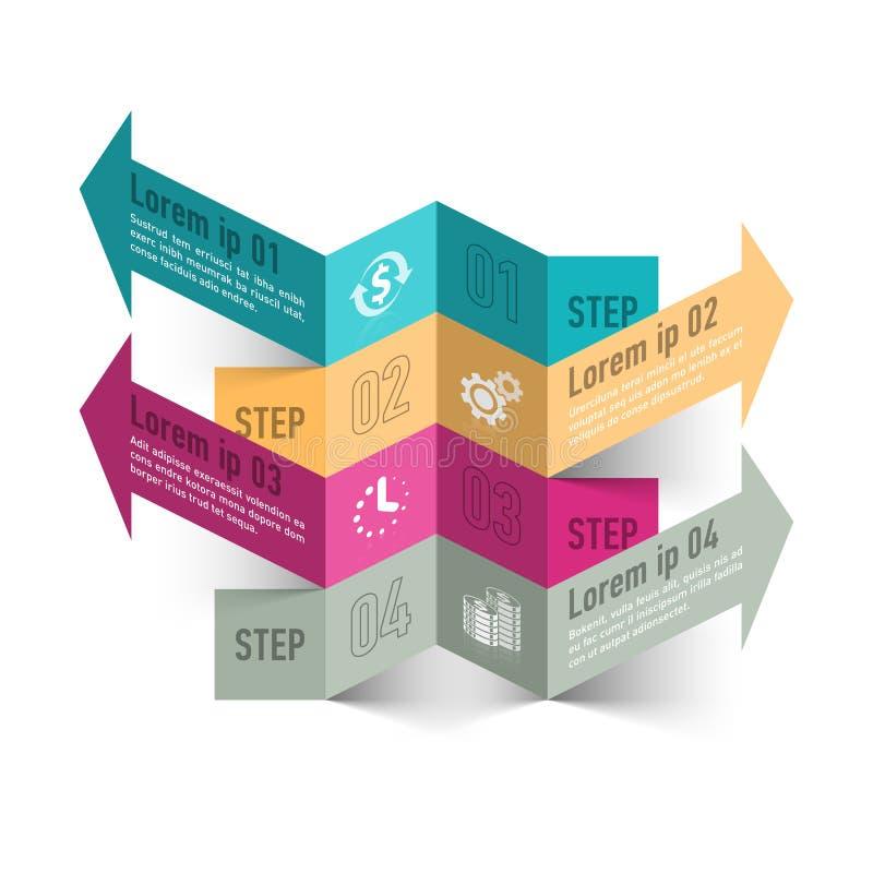 商业运作摘要infographics模板 向量例证