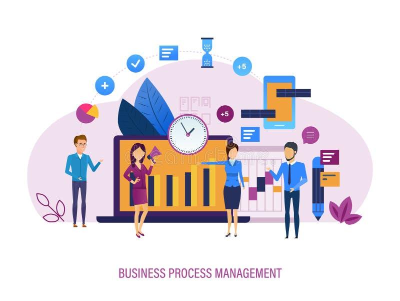 商业运作管理 市场研究,时间安排,任务分布控制 皇族释放例证