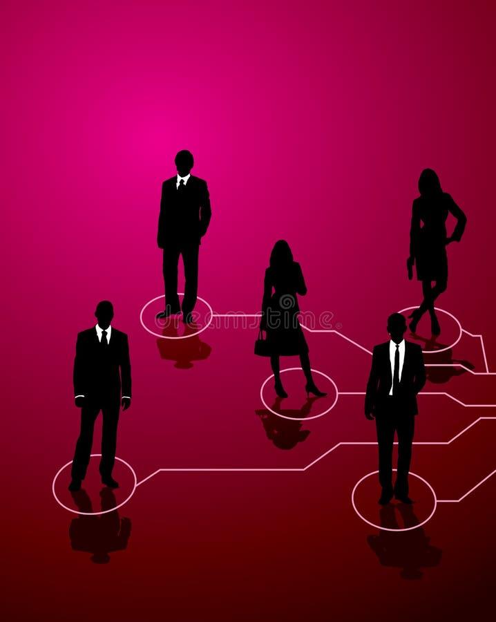 商业连接 向量例证
