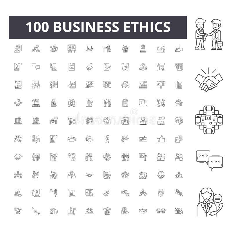 商业道德排行象,标志,传染媒介集合,概述例证概念 皇族释放例证