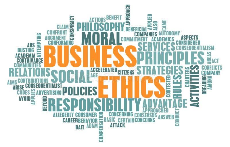 商业道德 向量例证