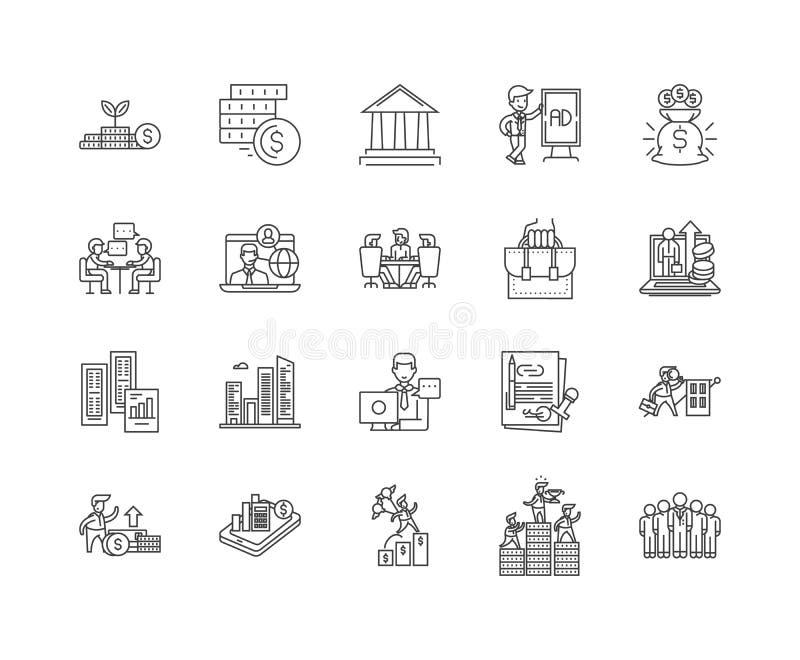商业银行业务线象,标志,传染媒介集合,概述例证概念 向量例证