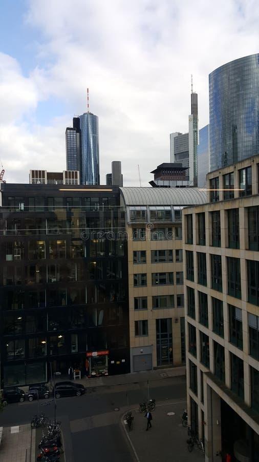 商业银行大厦,城市 免版税库存照片