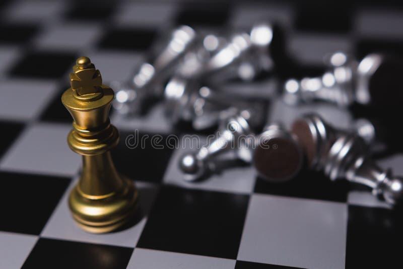 商业领袖概念 棋盘比赛 库存照片